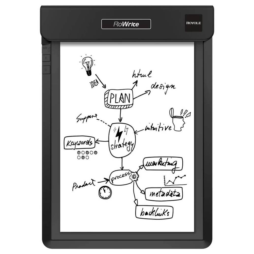 ROYOLE RoWrite Smart Writing Pad 16MB Internal Memory With 2048 Pressure Points Pen - Black