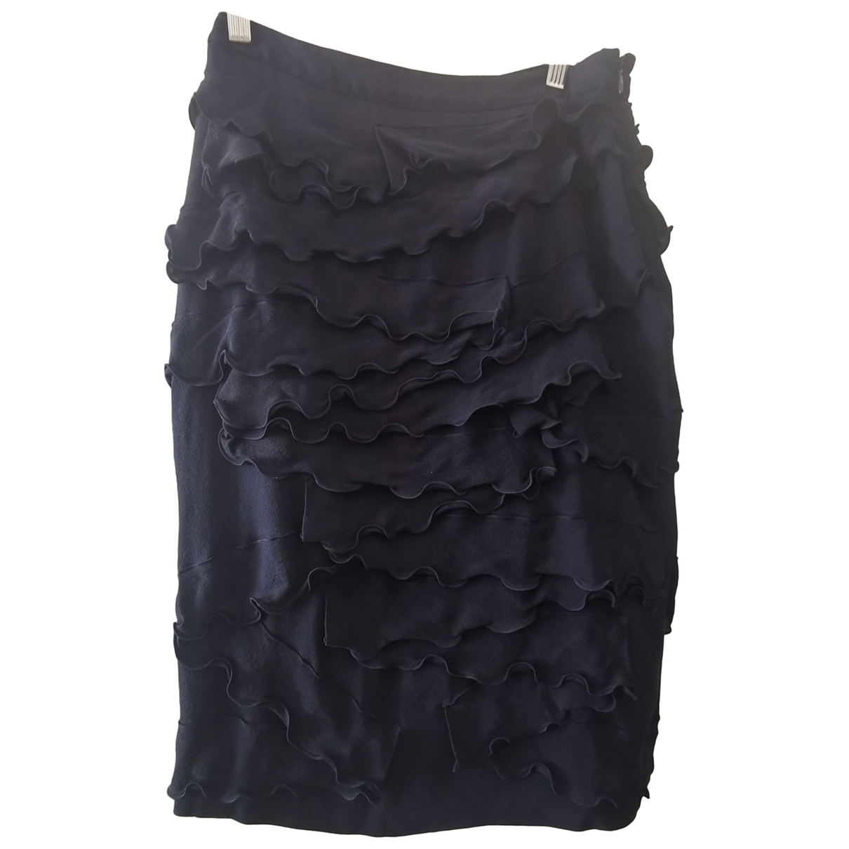 Burberry \N Navy Silk skirt for Women 8 UK