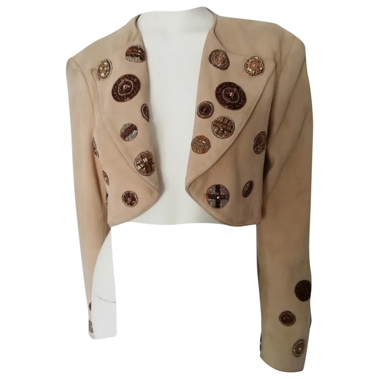 Jitrois \N Camel Suede jacket for Women 38 FR