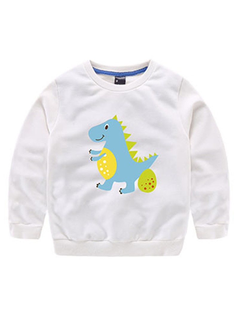 Ericdress Dinosaur Printed Long Sleeve Fall Boys T-Shirt