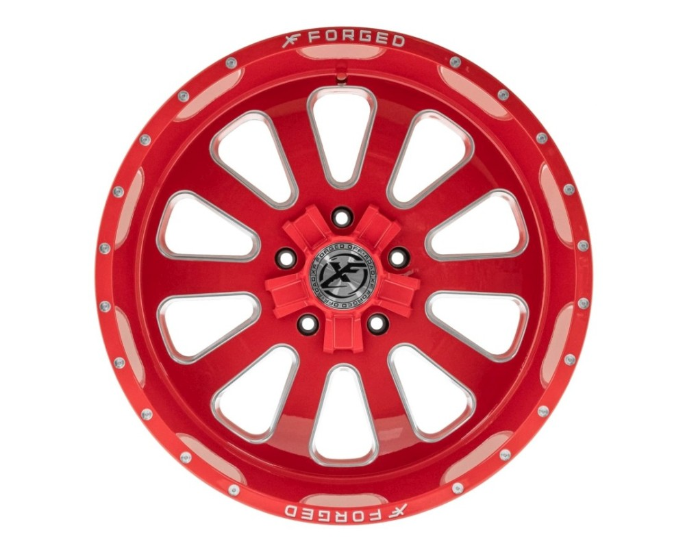 XF Off-Road XFX-302 Wheel 20x10 6x135|6x139.7 -12mm Red Milled