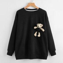 Toy Embellished Drop Shoulder Sweatshirt