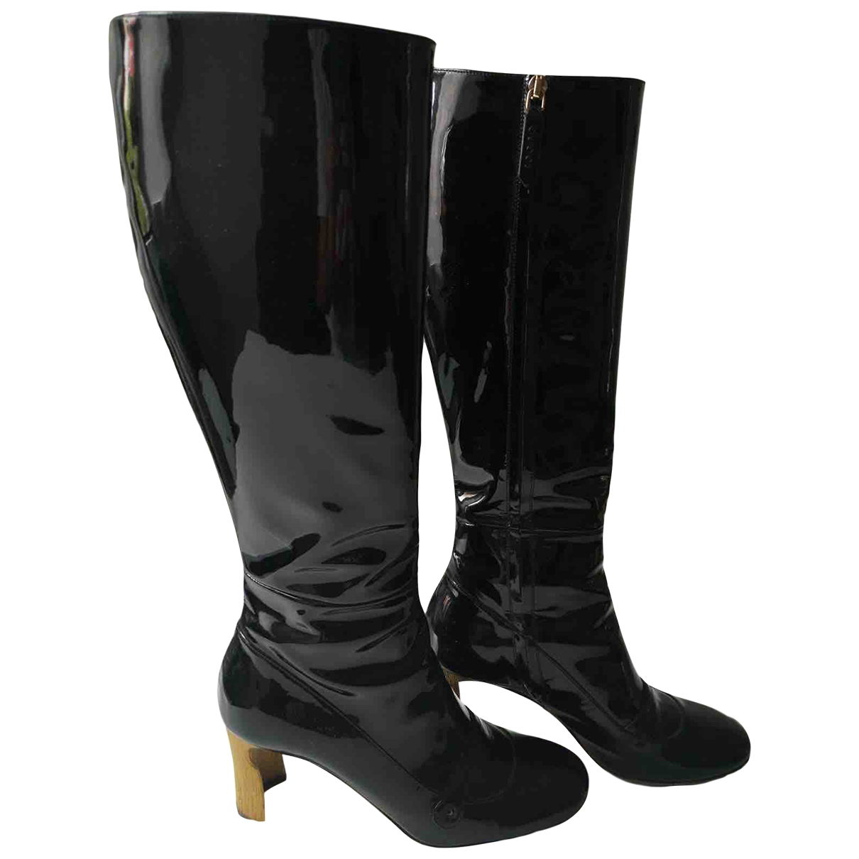 Gucci \N Black Patent leather Boots for Women 37 EU
