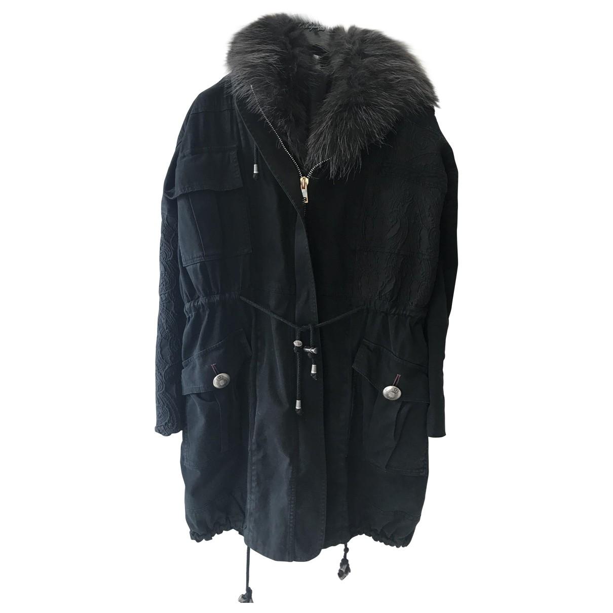 Project Foce Single Season \N Black Cotton coat for Women 40 IT