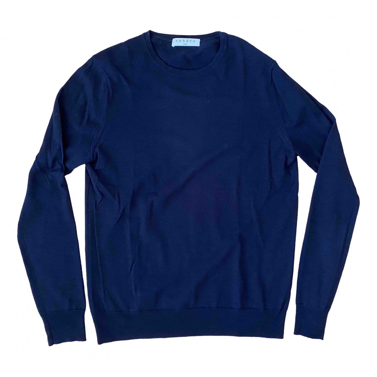 Sandro \N Blue Wool Knitwear & Sweatshirts for Men S International
