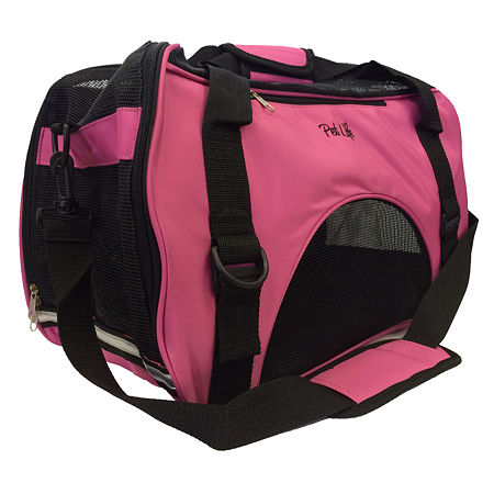 The Pet Life Airline Approved Altitude Force Sporty Zippered Fashion Pet Carrier, One Size , Pink