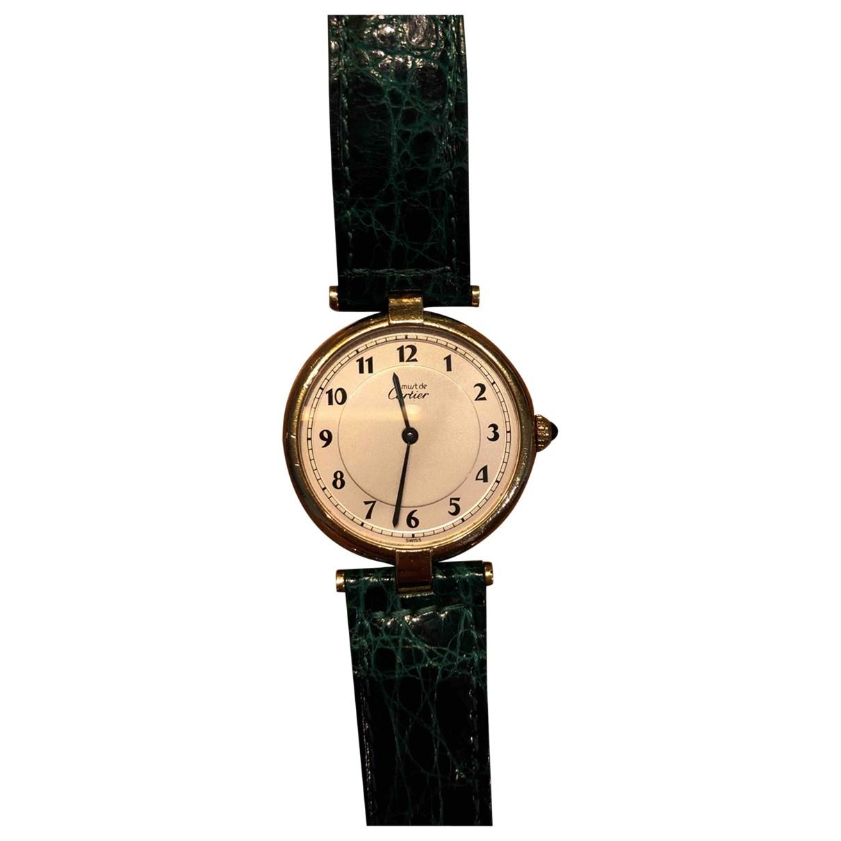 Cartier Must 21 Green Silver Gilt watch for Women \N