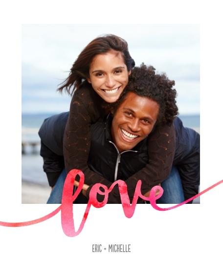 Love 8x10 Designer Print - Glossy, Prints -Love Watercolors