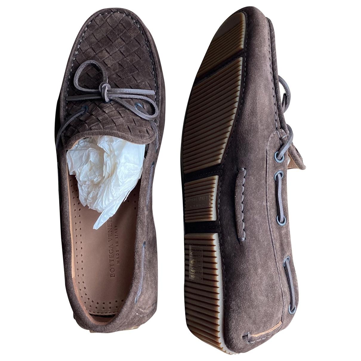 Bottega Veneta \N Brown Suede Flats for Men 40 EU