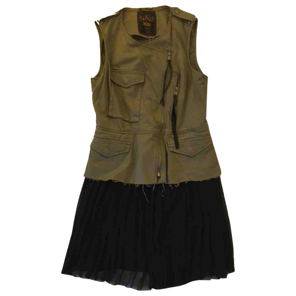 Diesel \N Khaki Cotton dress for Women S International