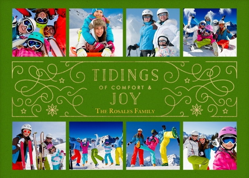 Holiday Photo Cards 5x7 Cards, Premium Cardstock 120lb with Elegant Corners, Card & Stationery -Comfort & Joy