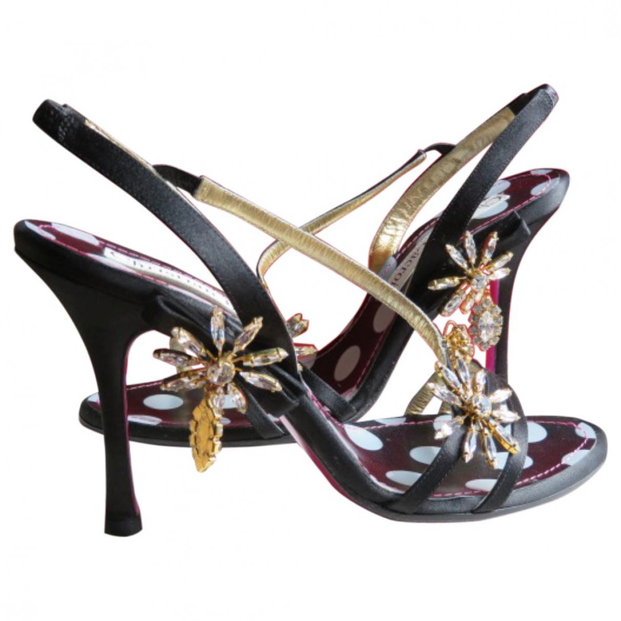 Christian Lacroix \N Black Cloth Sandals for Women 40 EU
