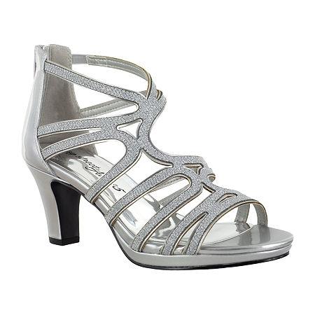 Easy Street Womens Elated Pumps Spike Heel, 7 1/2 Medium, Silver