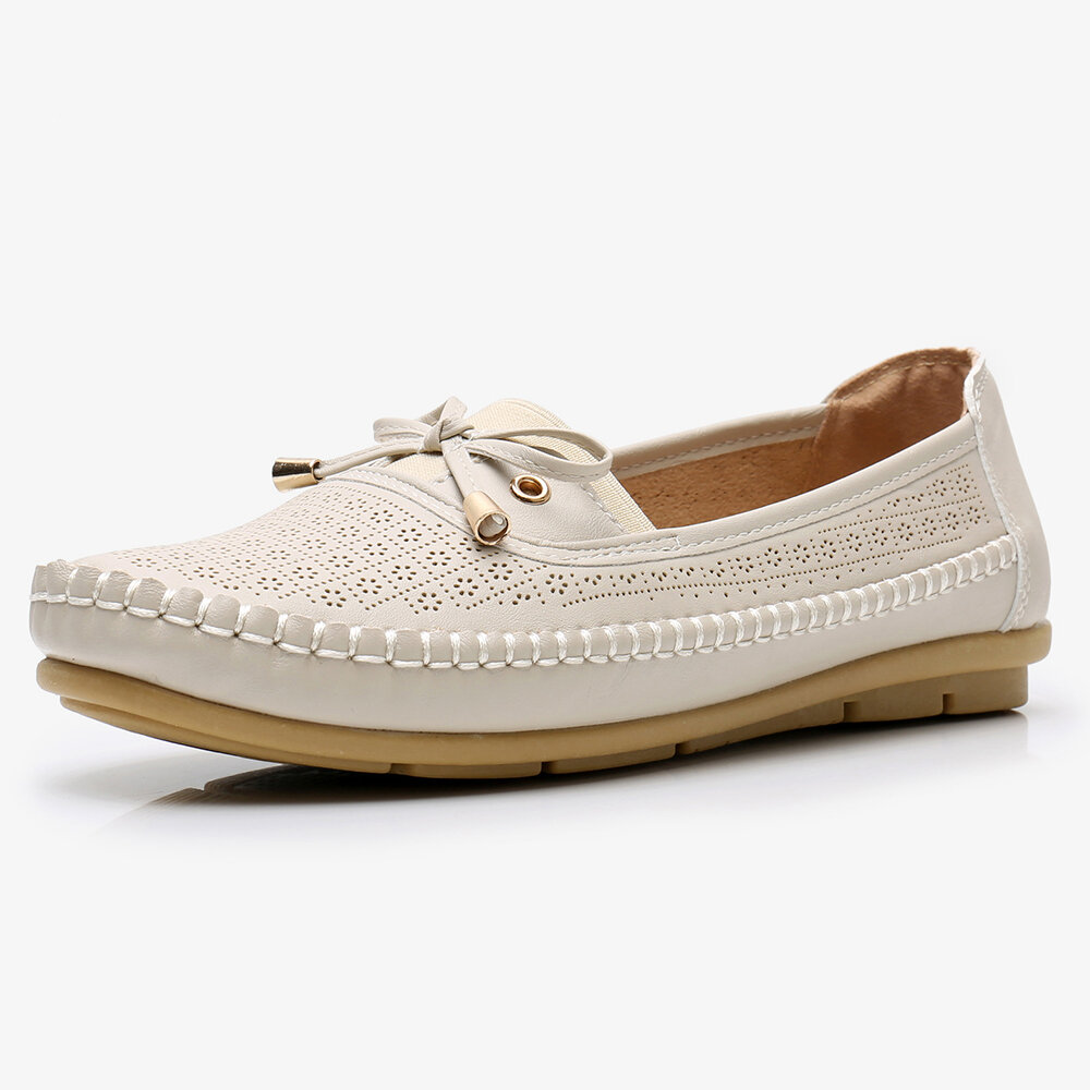 Women Butterfly Knot Decor Casual Comfy Slip On Loafers