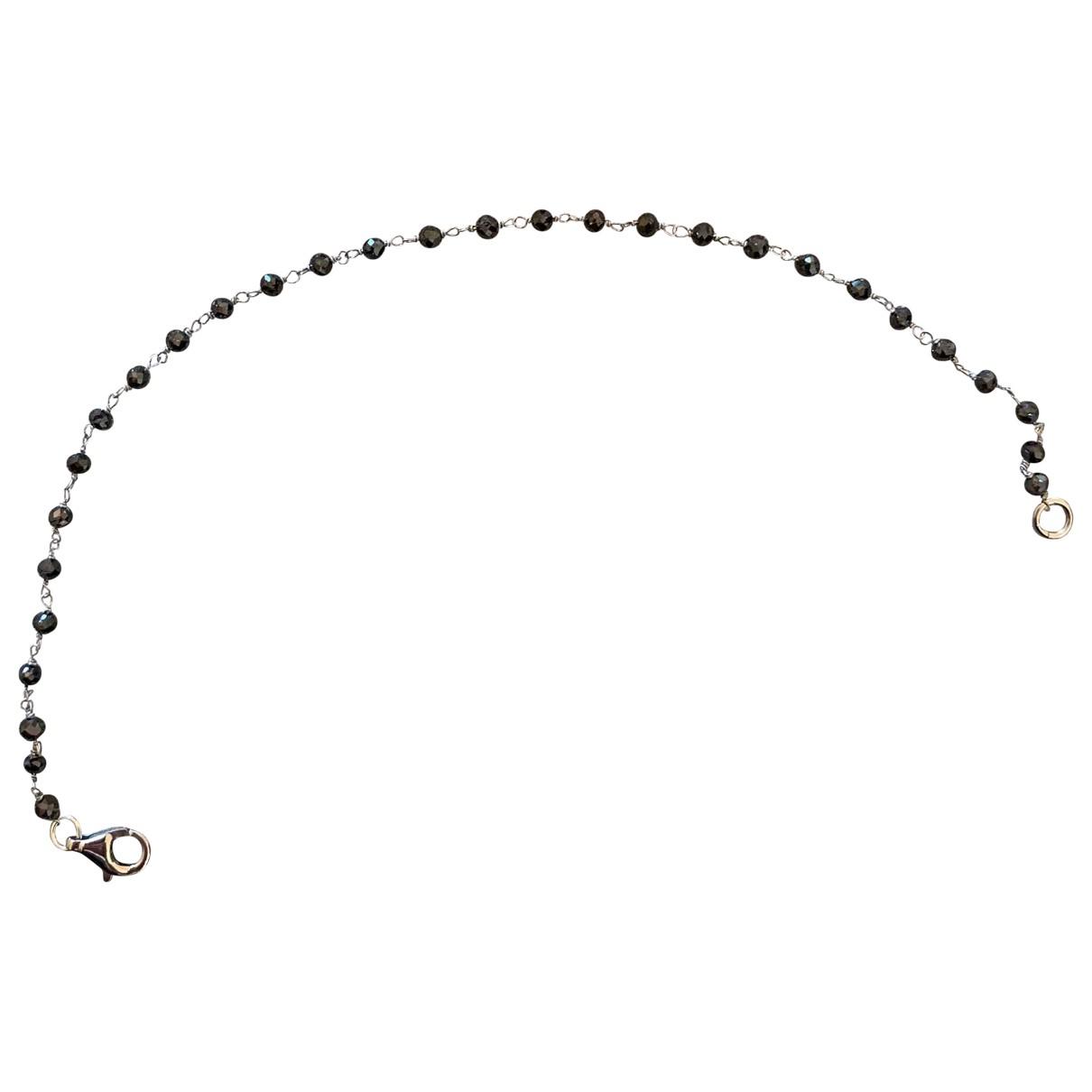 Non Signé / Unsigned Tennis Black White gold bracelet for Women \N