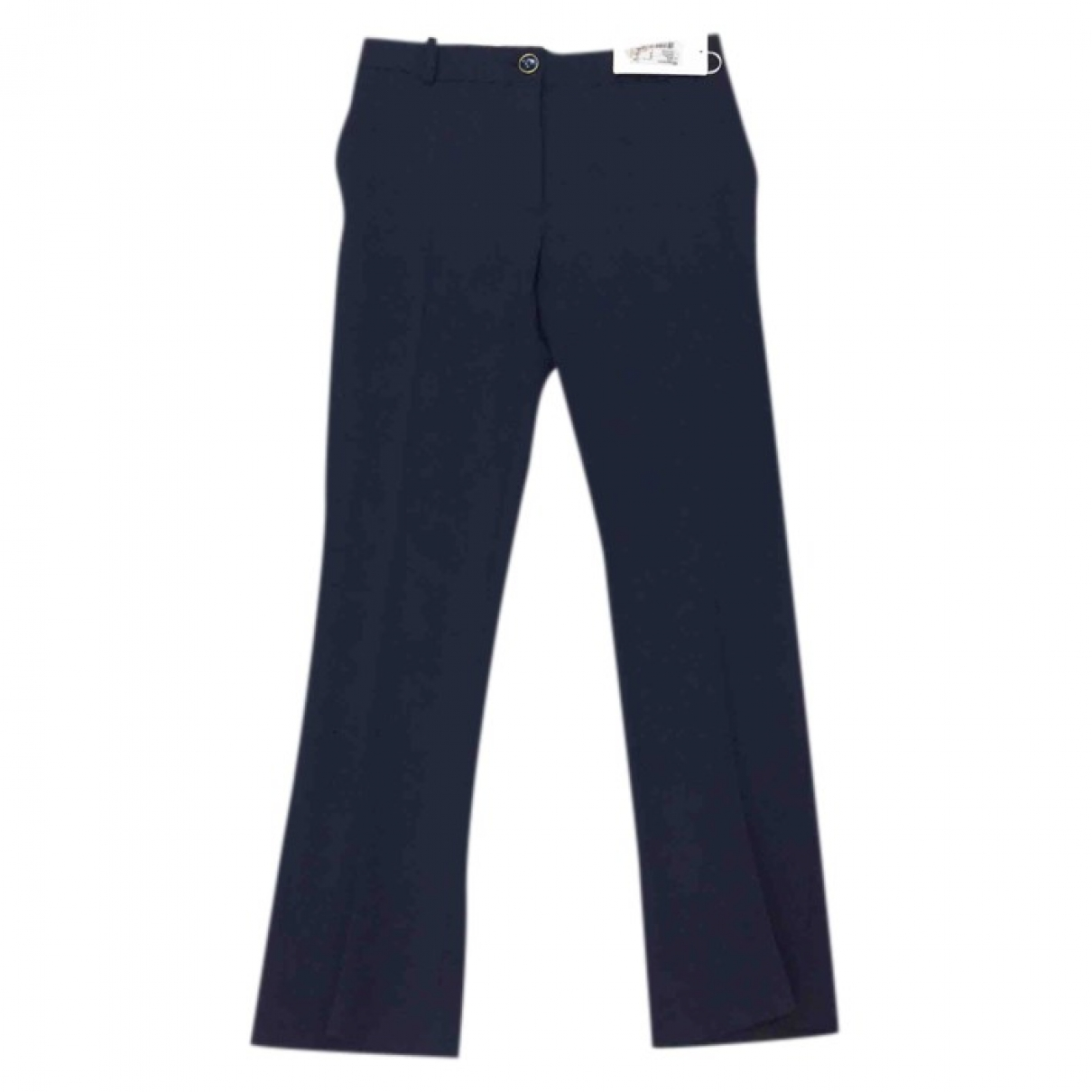 Valentino Garavani \N Blue Wool Trousers for Women 40 IT