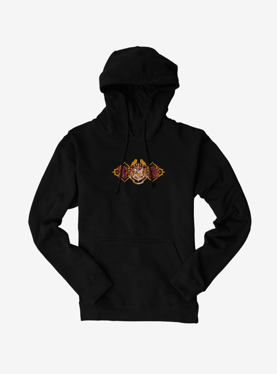 Harry Potter Hogwarts Shield Red And Gold Hoodie