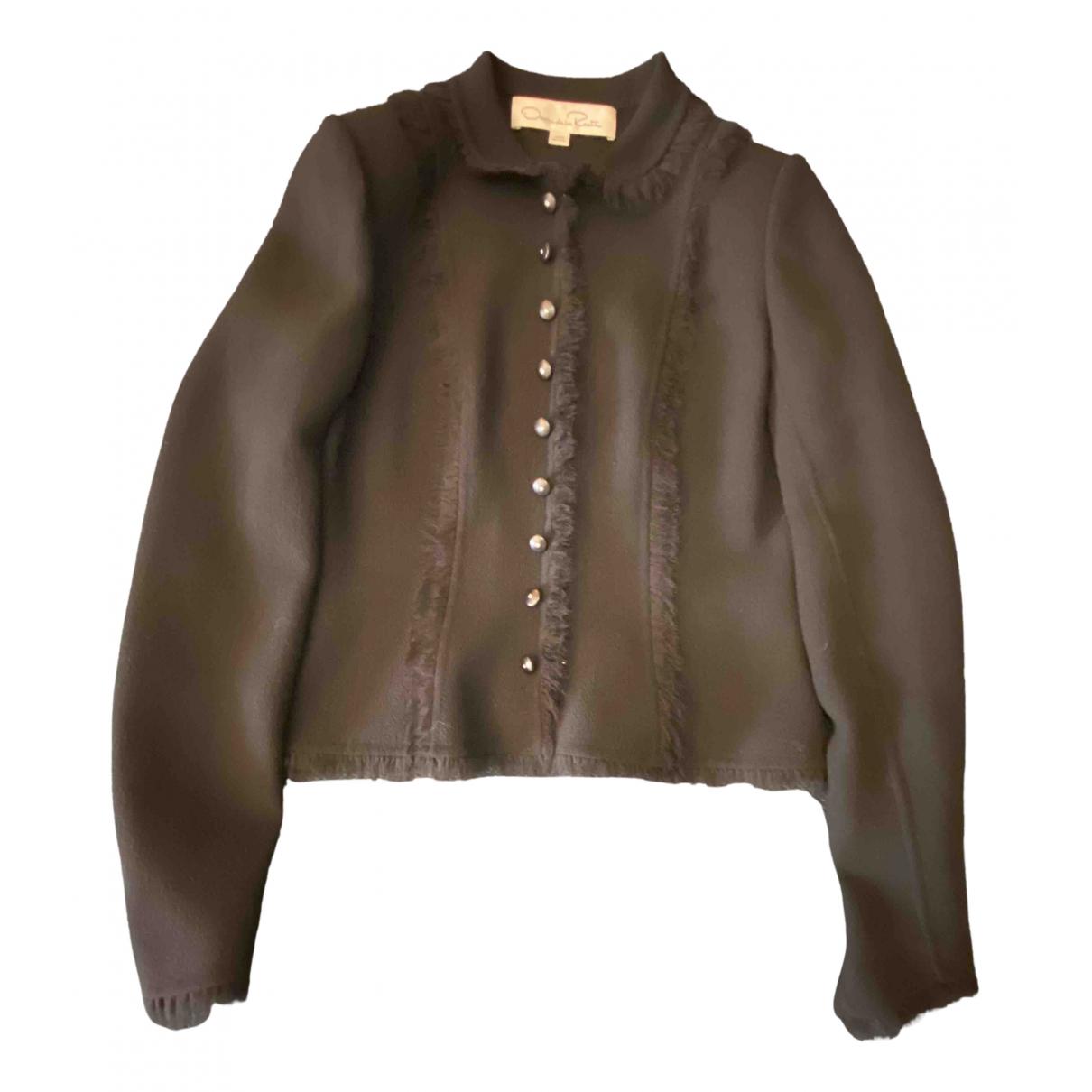 Oscar De La Renta \N Black Wool jacket for Women 4 US