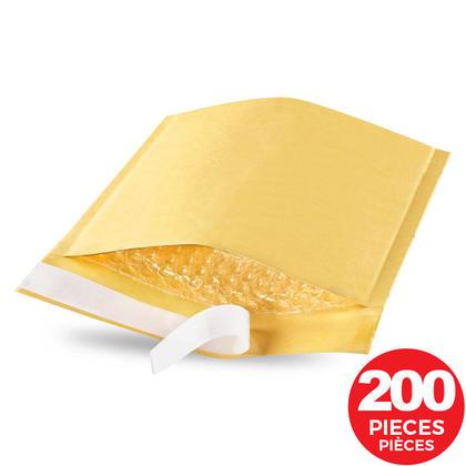 Sealed Air@ Jiffylite Self-Sealing Kraft Bubble Envelope #0, 6 1/2