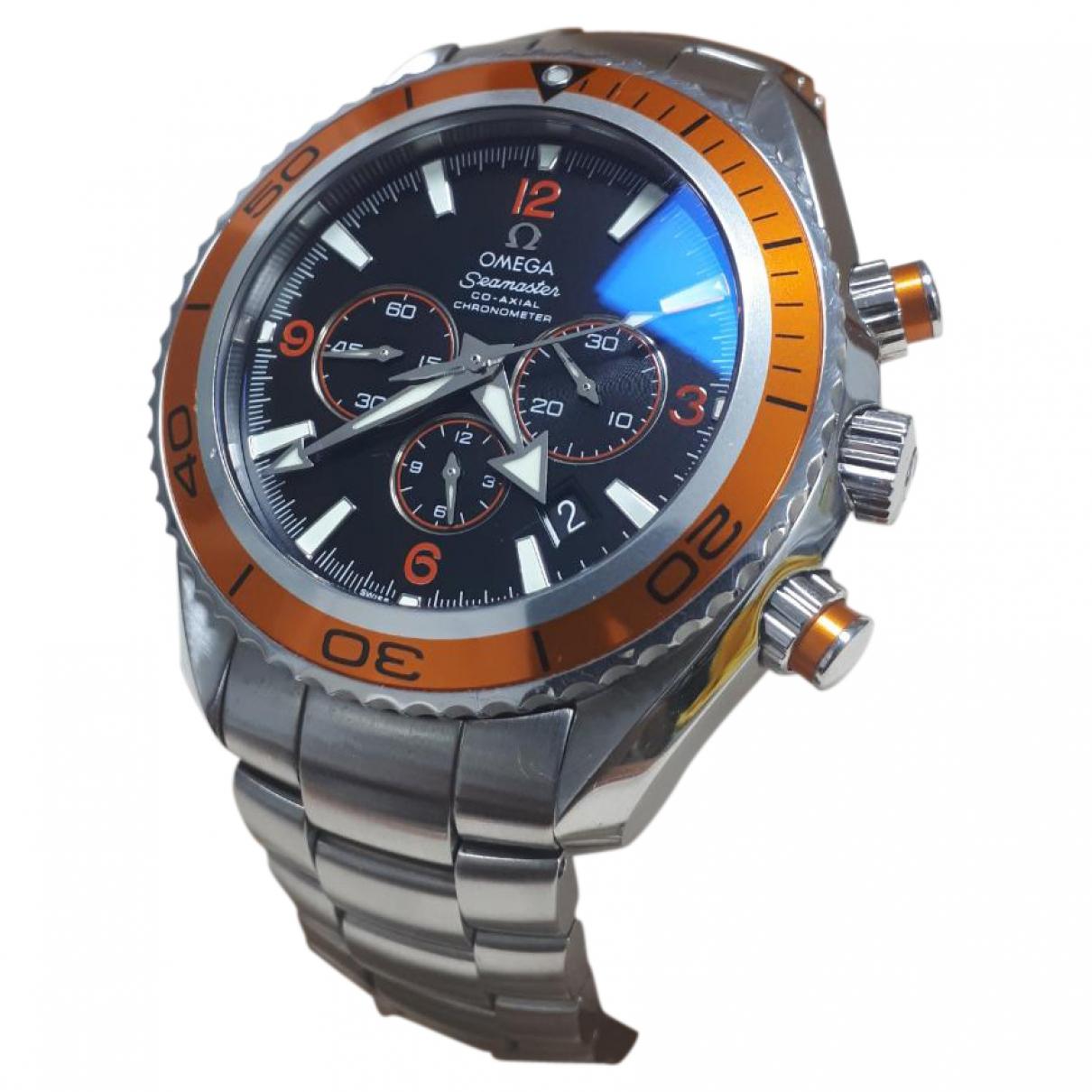 Omega Seamaster Planet Ocean Orange Steel watch for Men \N