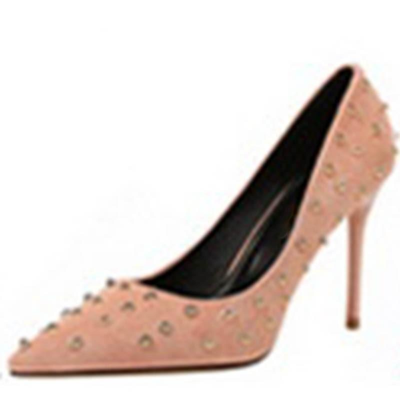 Ericdress Rivets Slip-On Pointed Toe Women's Pumps