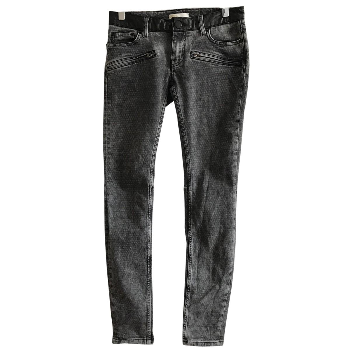 Maje \N Grey Cotton - elasthane Jeans for Women 36 FR