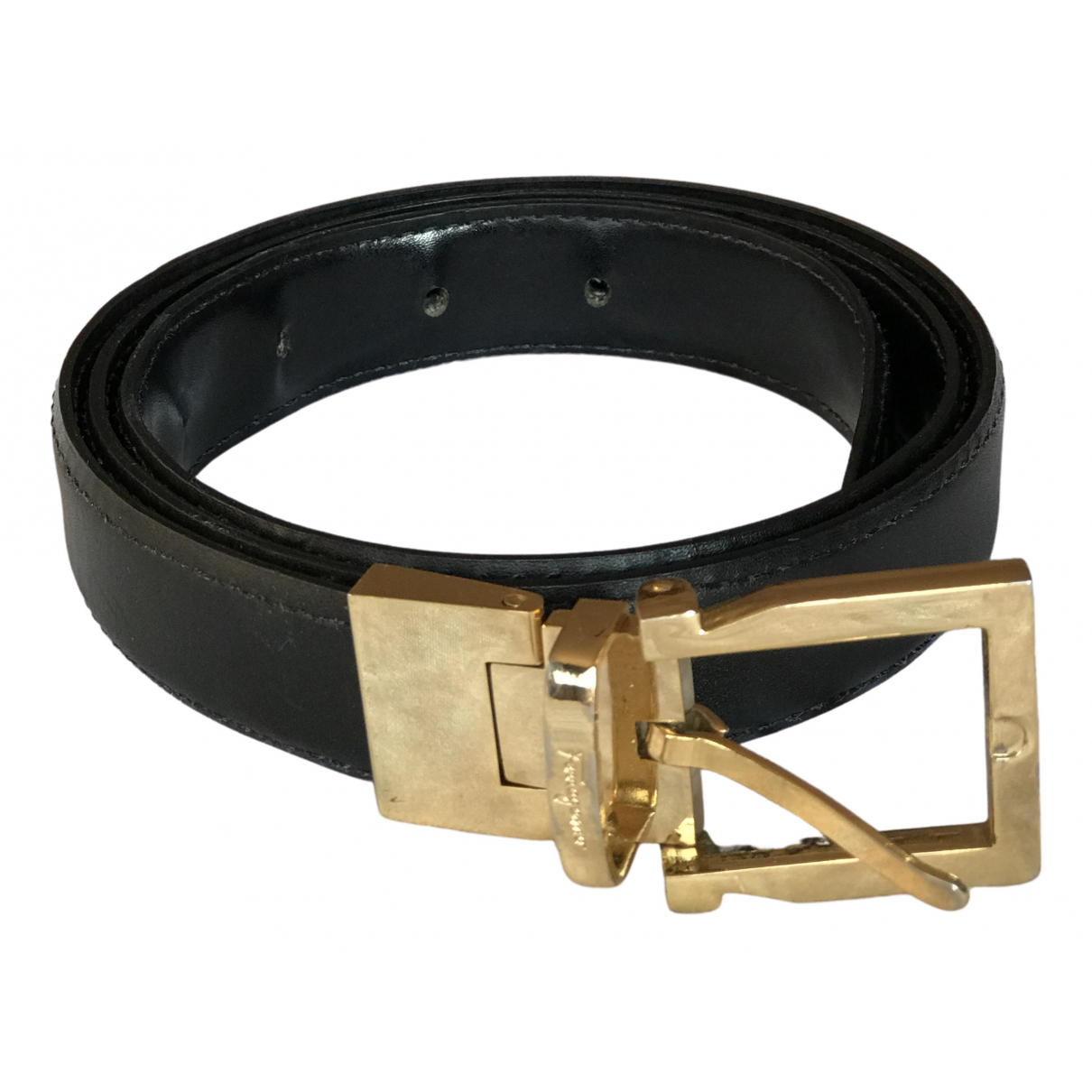 Salvatore Ferragamo \N Black Leather belt for Women M International