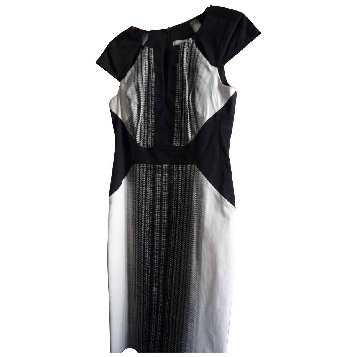 Karen Millen \N Black Cotton - elasthane dress for Women 12 UK