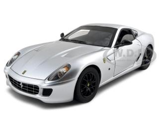 Ferrari 599 GTB Fiorano Elite Edition Silver 1/18 Diecast Model Car by Hotwheels