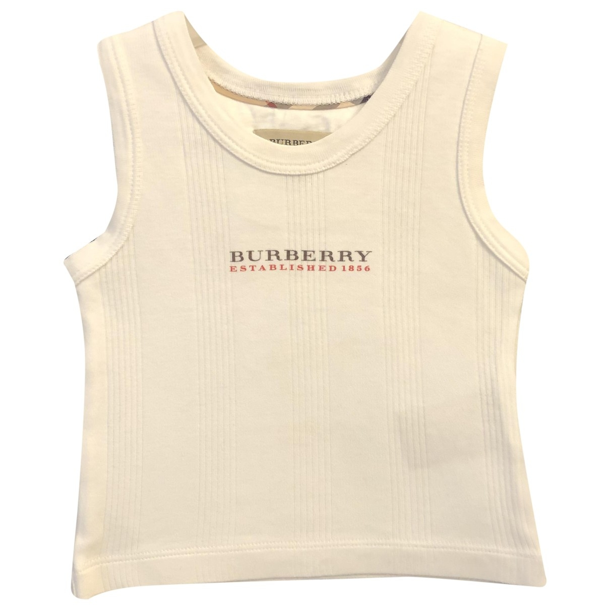 Burberry \N White Cotton  top for Kids 9 months - up to 71cm FR