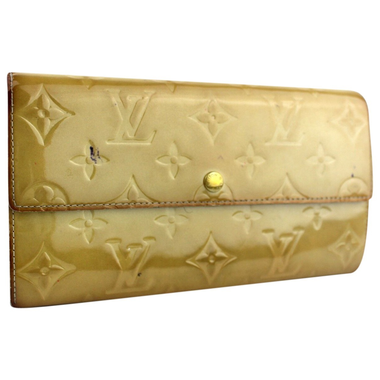 Louis Vuitton Sarah Gold Patent leather wallet for Women \N