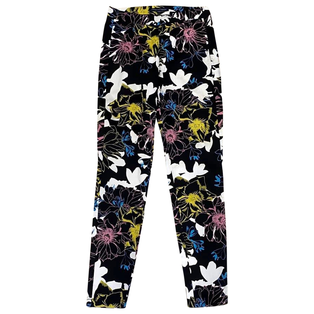 French Connection \N Multicolour Cotton Trousers for Women 34 FR