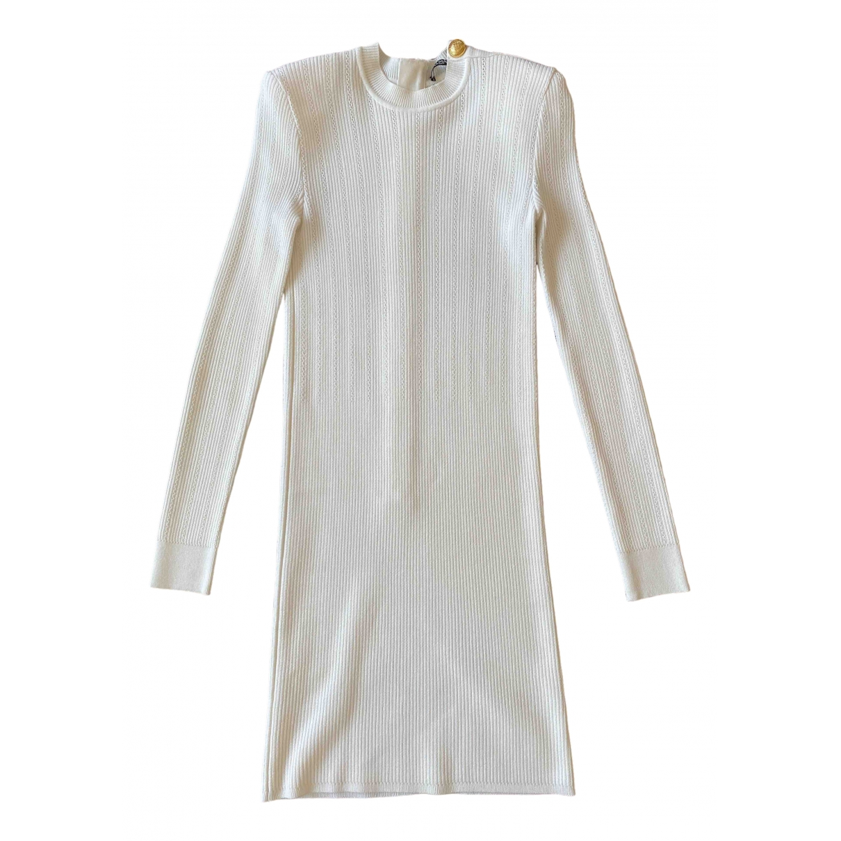 Balmain \N White dress for Women 40 FR