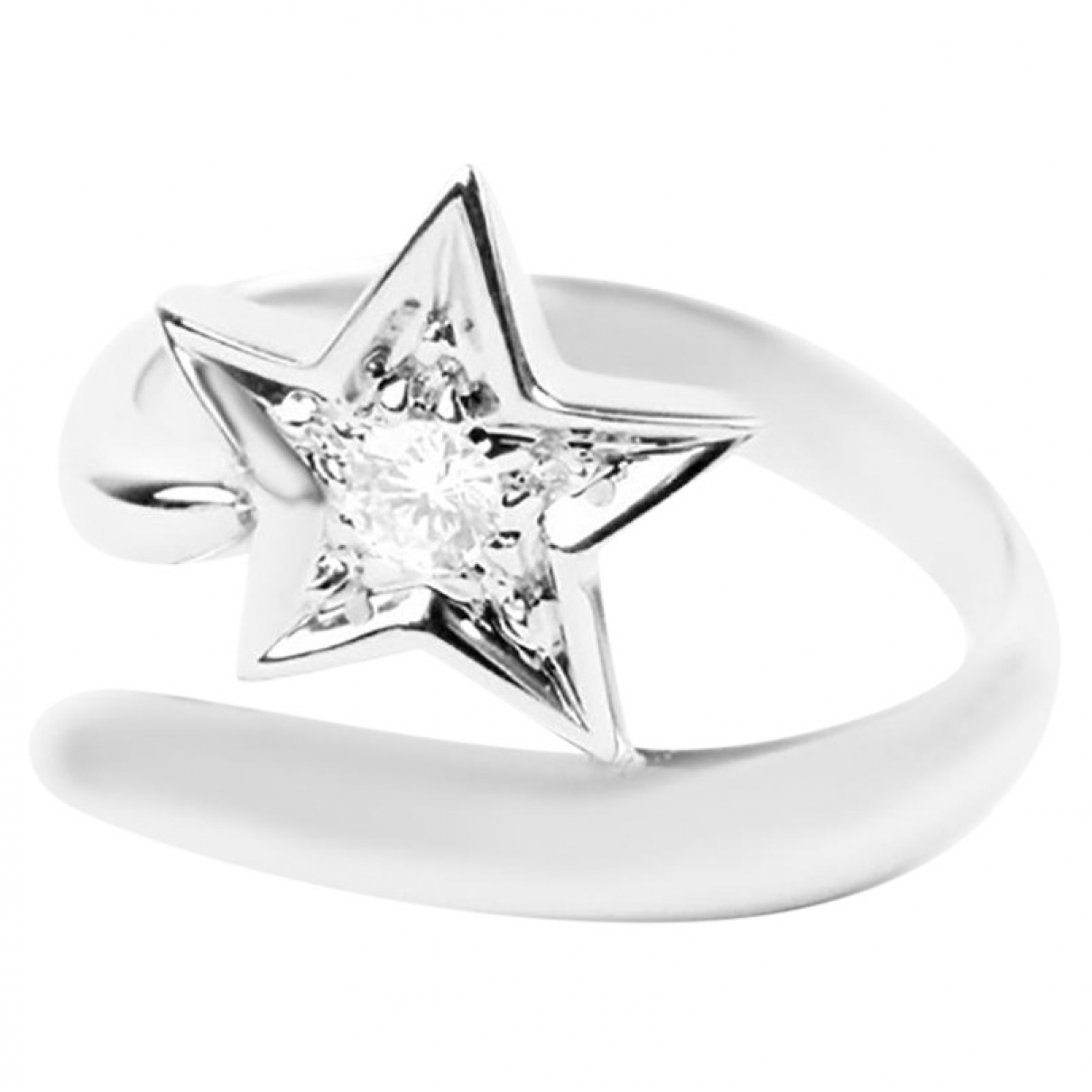 Chanel Comète Silver White gold ring for Women \N
