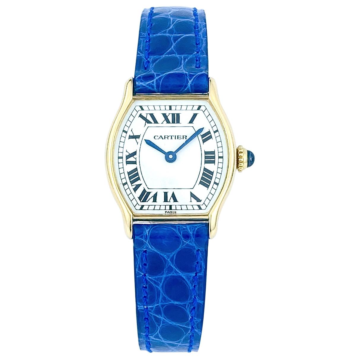 Cartier Tortue Gold Yellow gold watch for Women \N