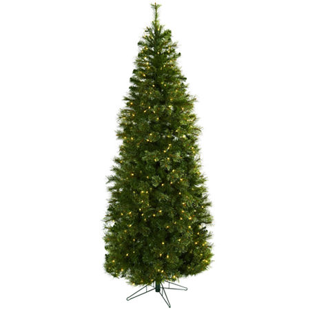 Nearly Natural 7 1/2 Foot 7.5ft Cashmere Christmas Tree, One Size , Green