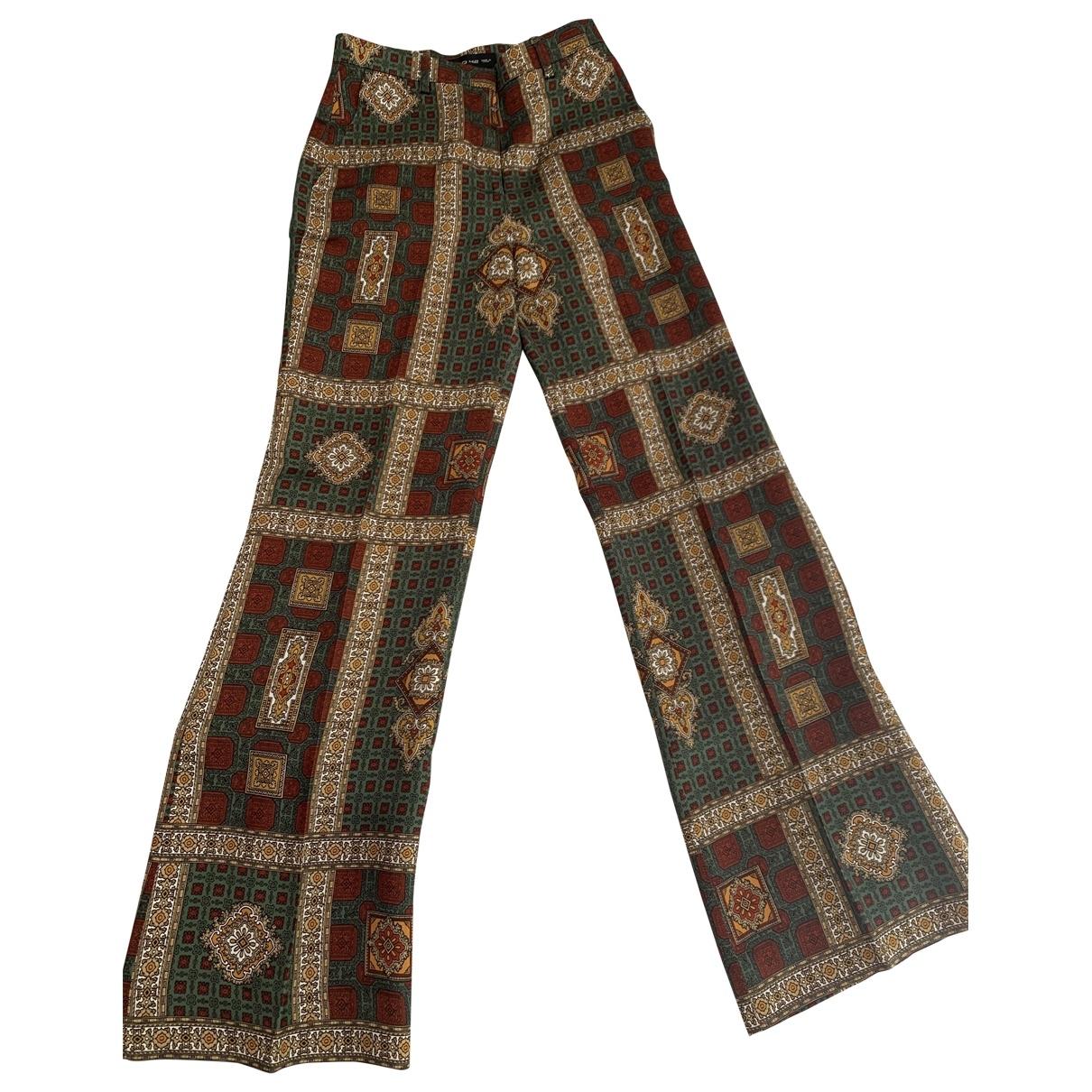 Etro \N Multicolour Trousers for Women 42 IT