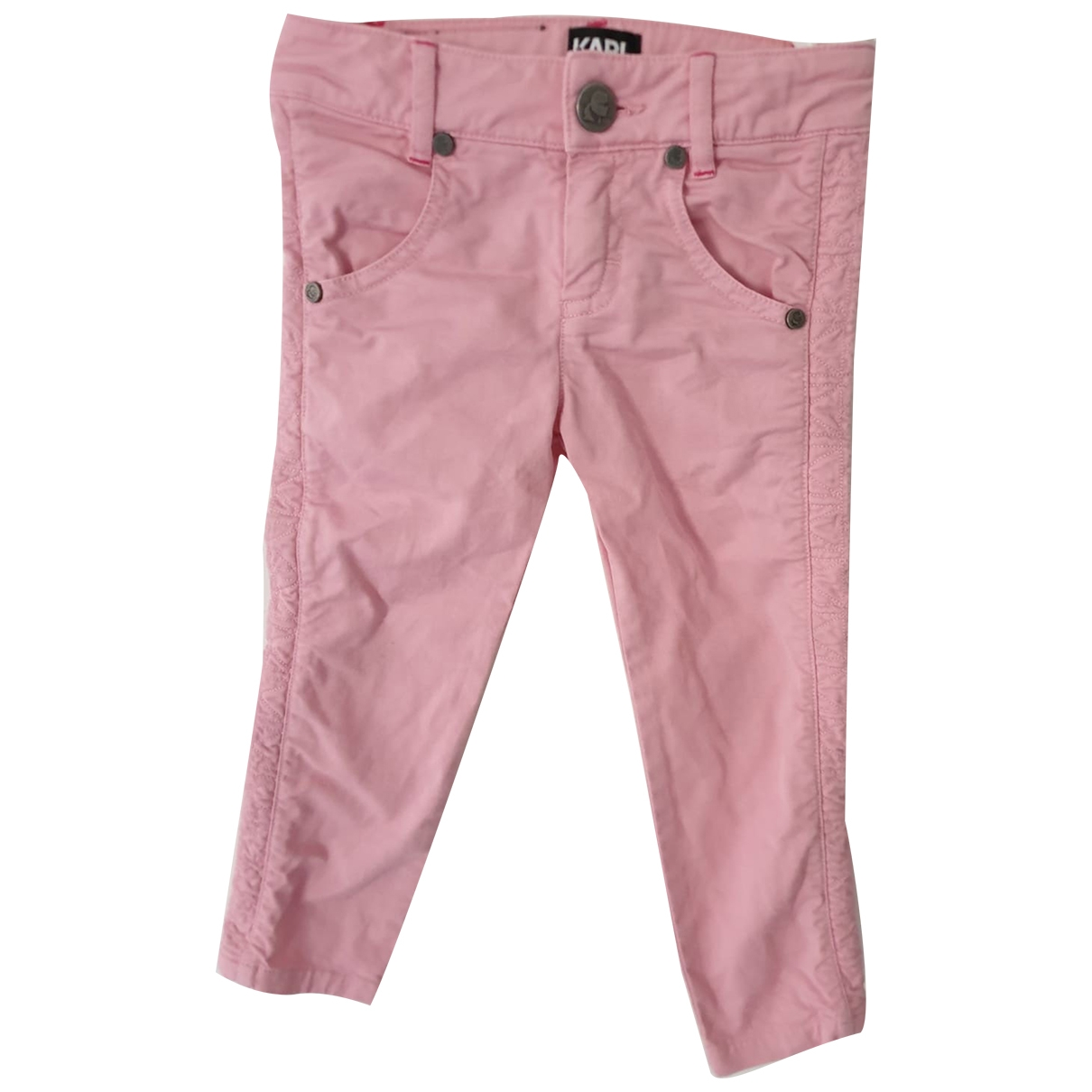 Karl Lagerfeld \N Pink Cotton Trousers for Kids 3 years - up to 98cm FR