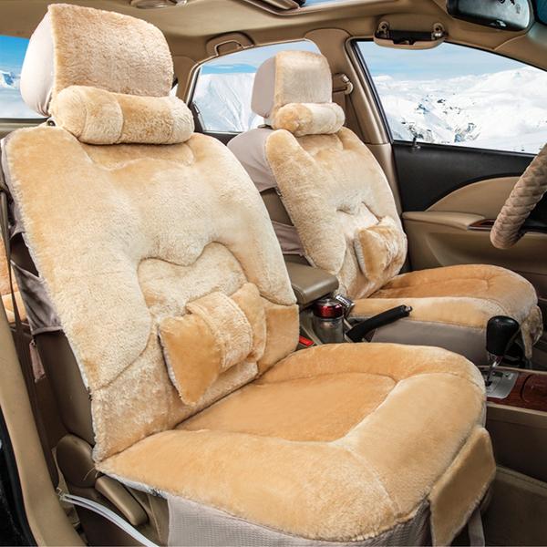 Three Dimensional Plush Cushion Comfortable Universal Fit Car Seat Cover