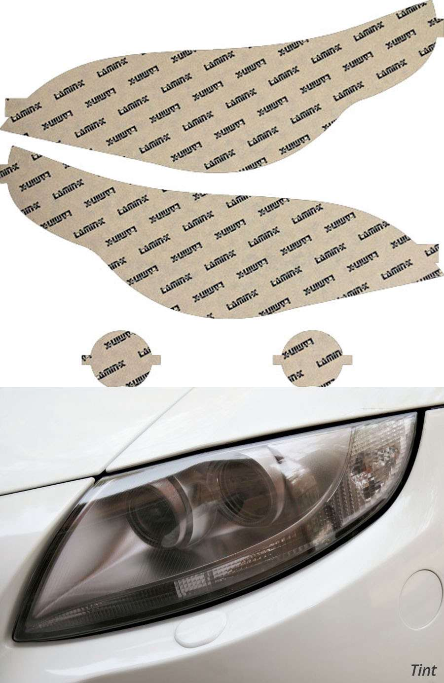 BMW M5 05-10 Tint Headlight Covers Lamin-X B017-1T