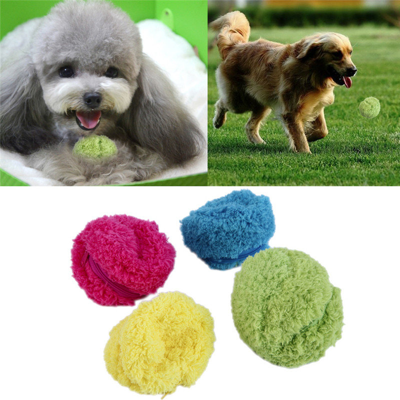 PetElectronic Toys Microfiber Mop Rolling Ball Sweep Robots Automatic Vacuum Cleaner Plush Toy