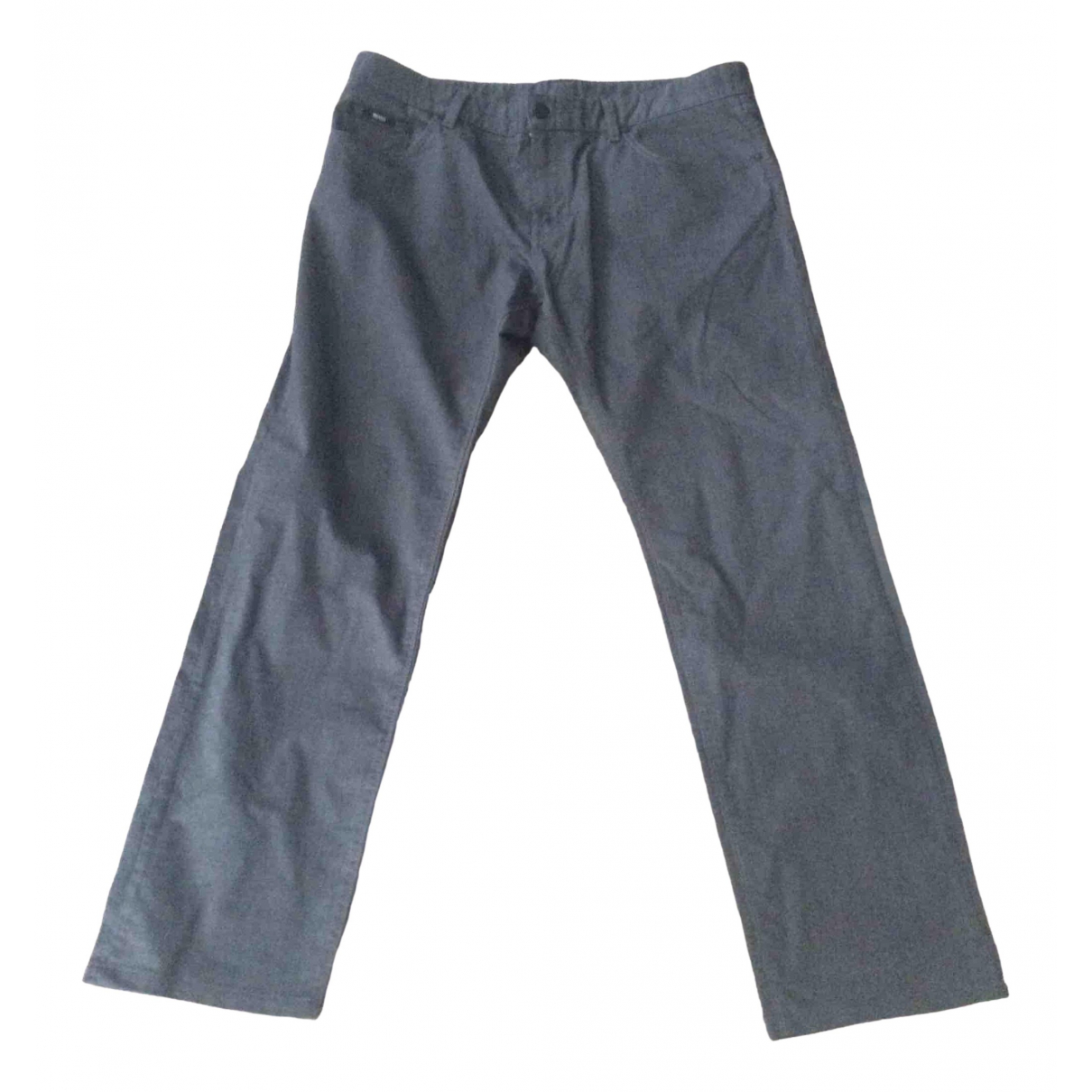 Boss \N Grey Cotton Jeans for Men 38 FR