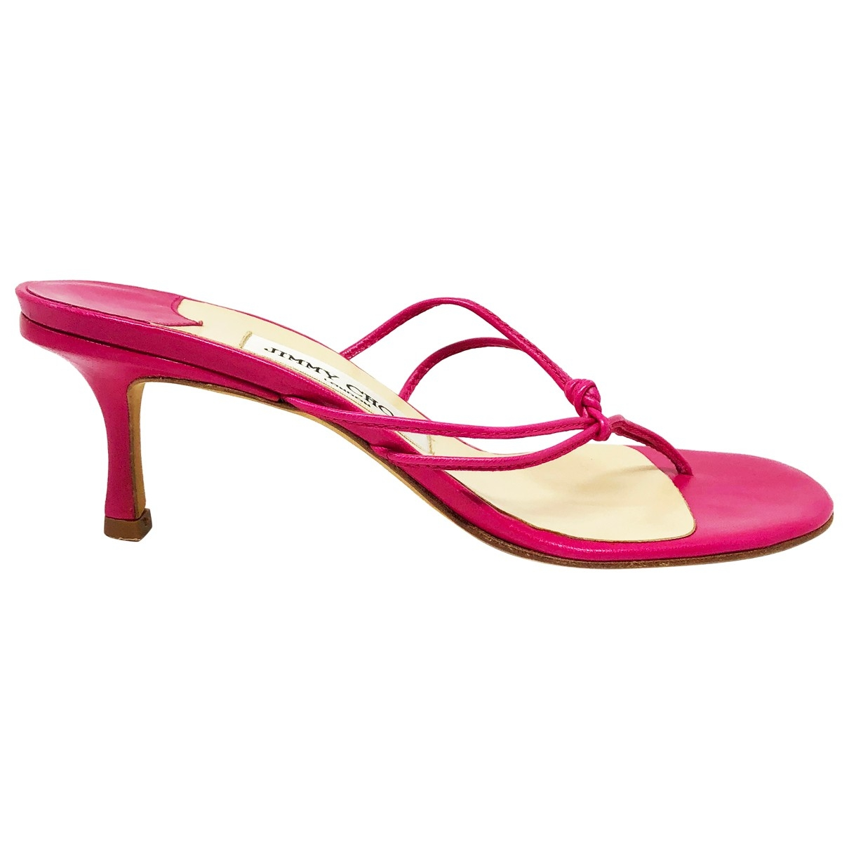 Jimmy Choo \N Pink Leather Sandals for Women 36 EU