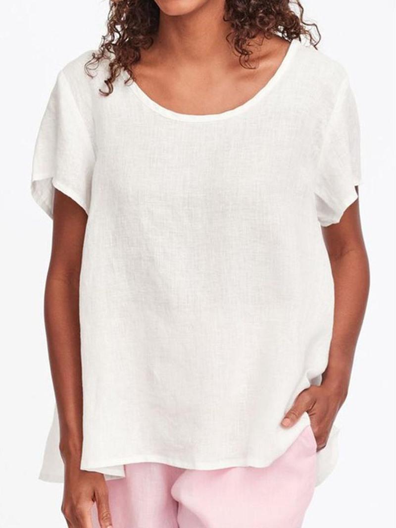 Ericdress Short Sleeve Standard Round Neck Casual T-Shirt