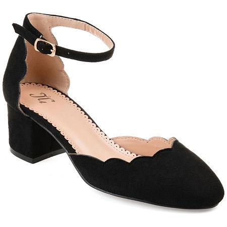 Journee Collection Womens Edna Heeled Sandals, 7 1/2 Medium, Black
