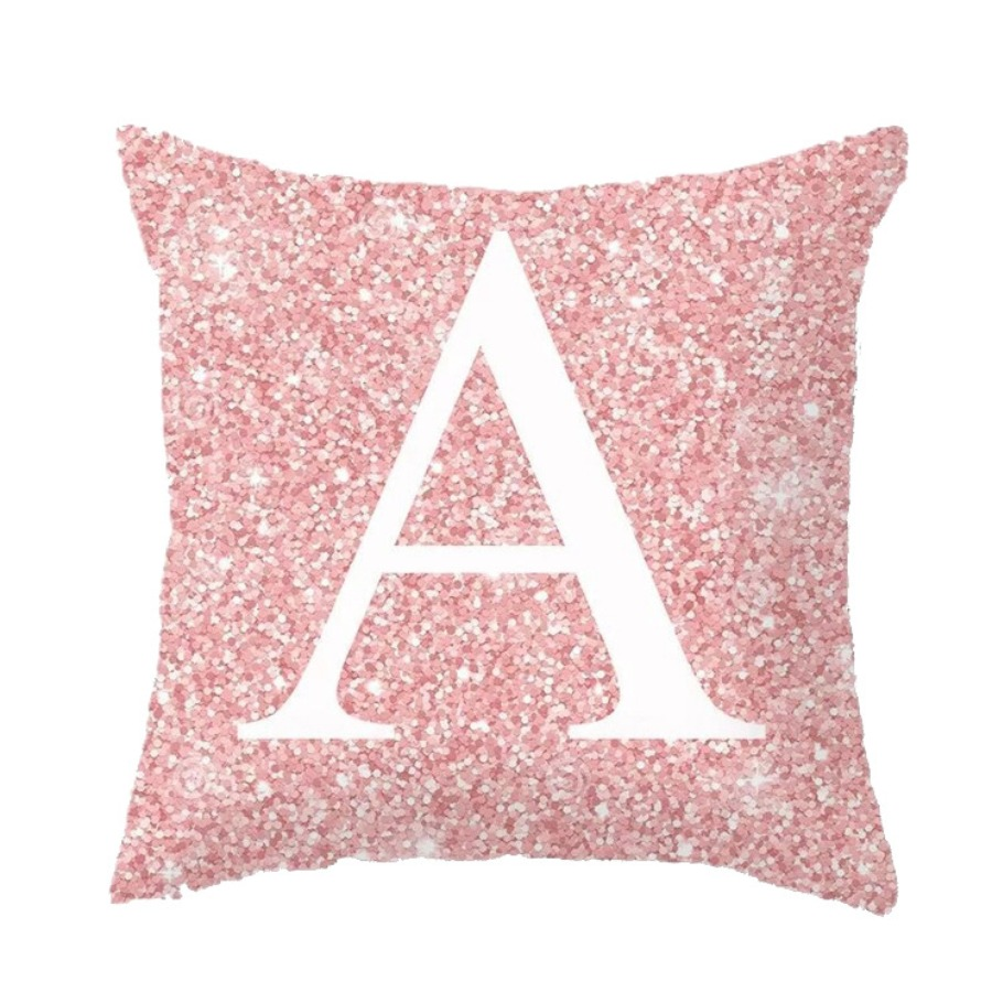 LW lovely Casual Letter Print Pink Decorative Pillow Case