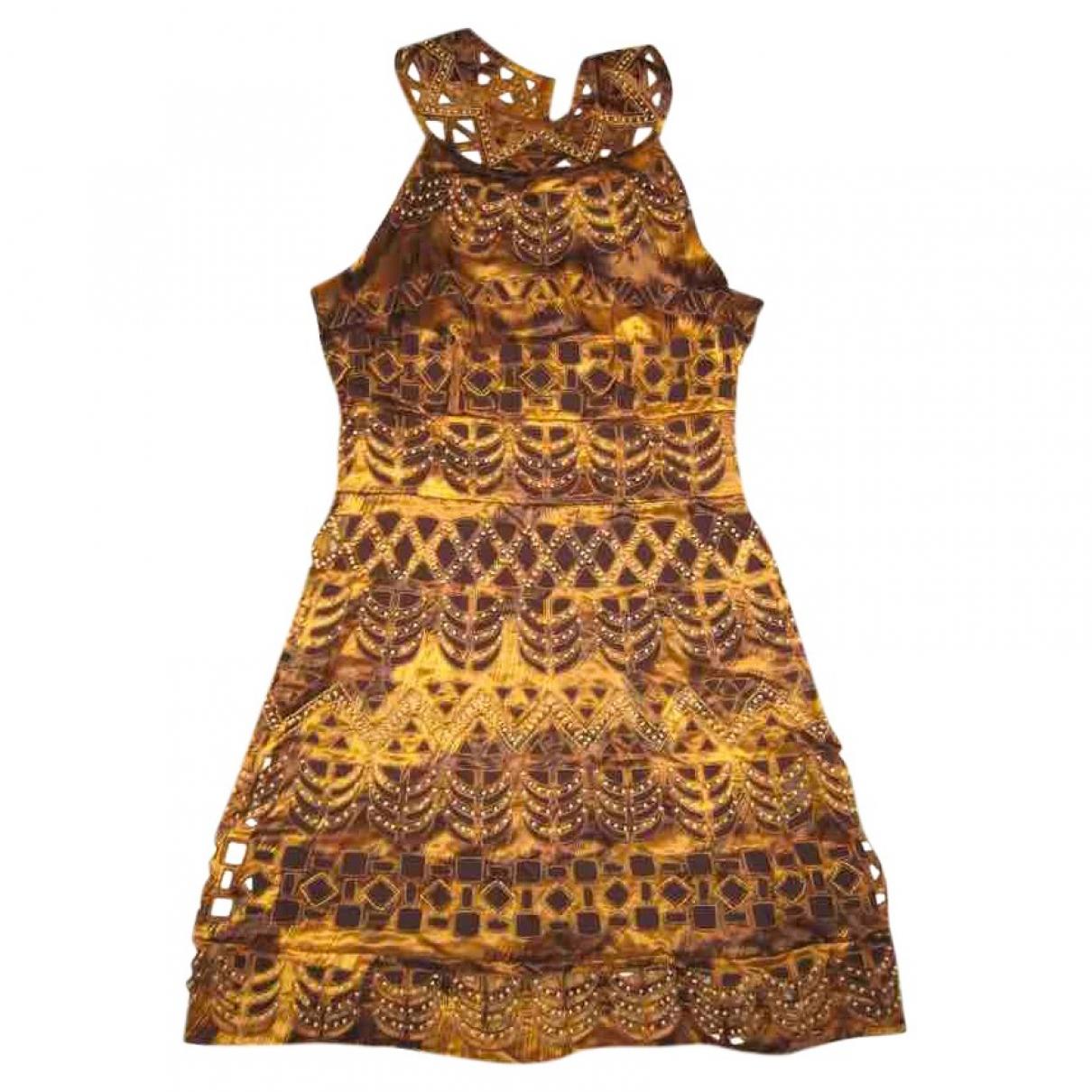 Diane Von Furstenberg \N Gold Silk dress for Women 1 US