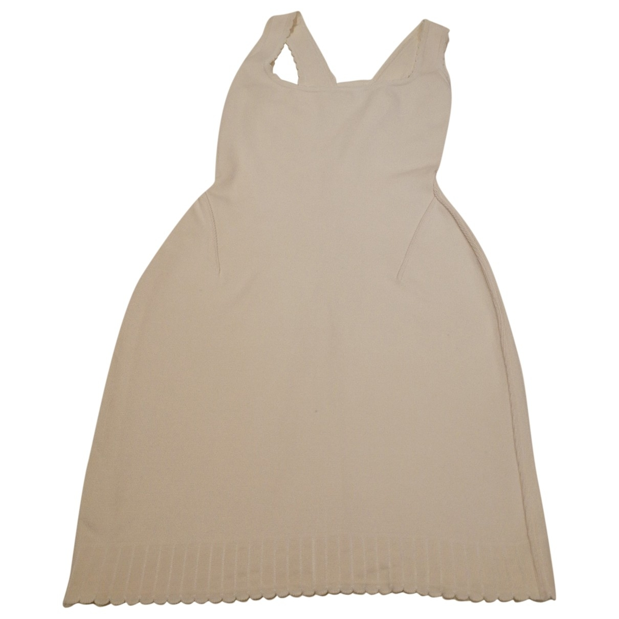 Alaïa \N White Cotton - elasthane dress for Women S International