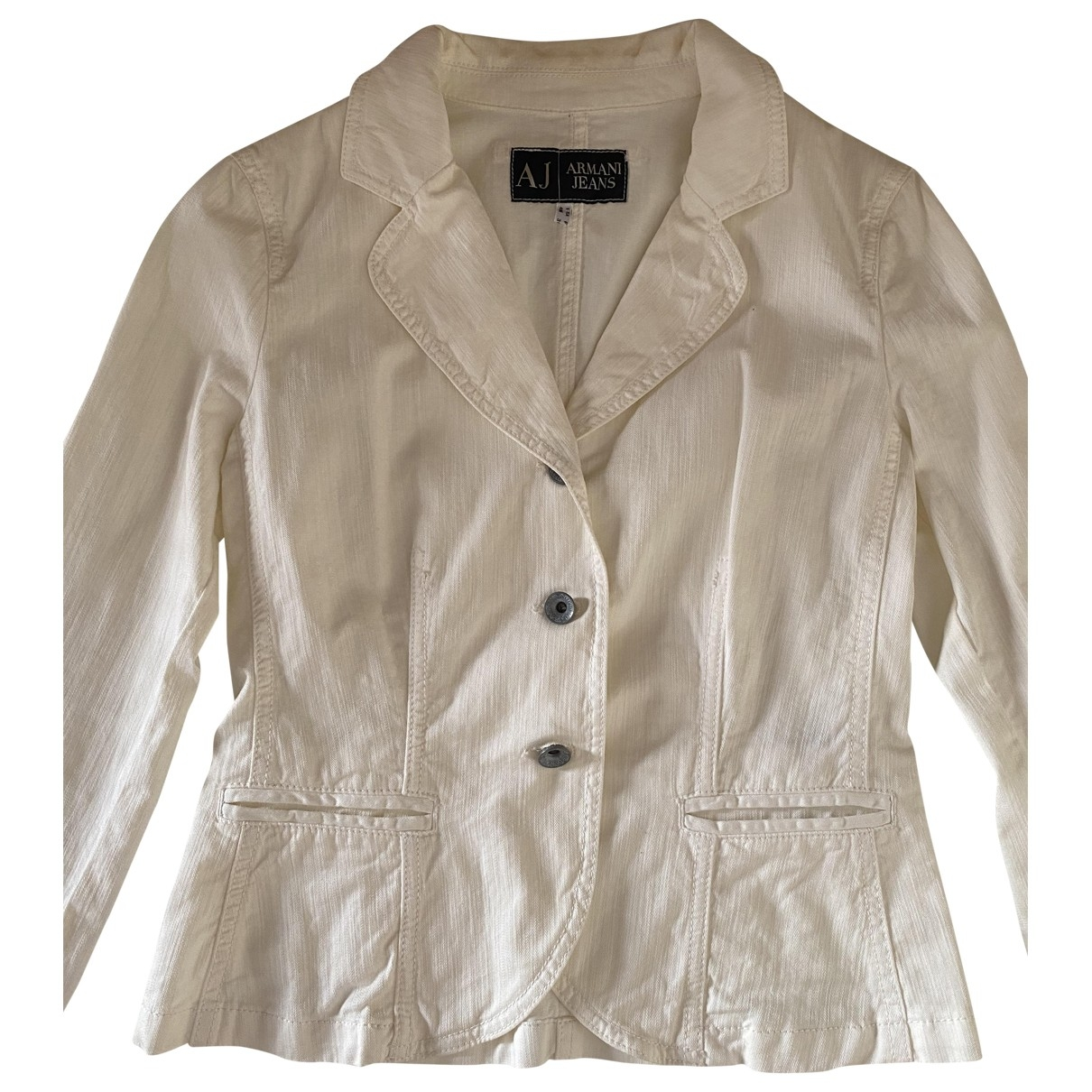 Armani Jeans \N White Cotton jacket for Women 40 IT