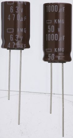 Nippon Chemi-Con 3.3μF Electrolytic Capacitor 50V dc, Through Hole - EKMG500ELL3R3ME11D (5)